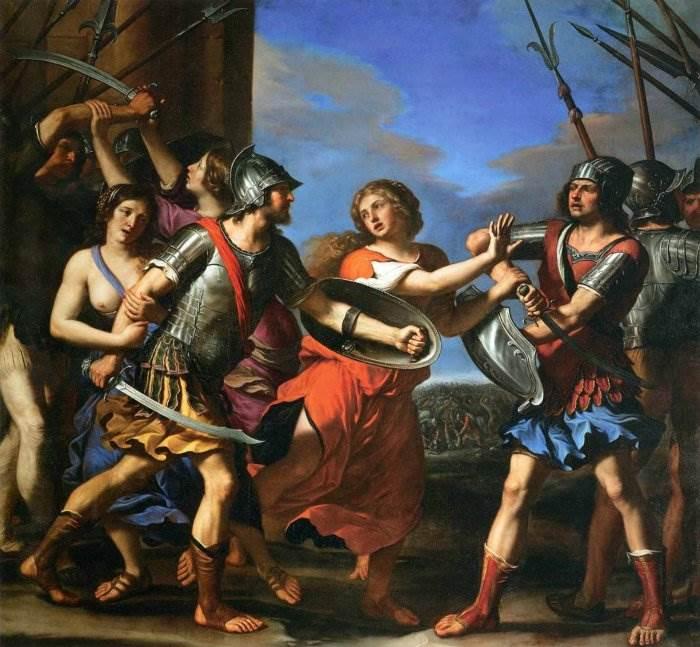 Герсилия разнимающая Ромулуса и Татиуса
