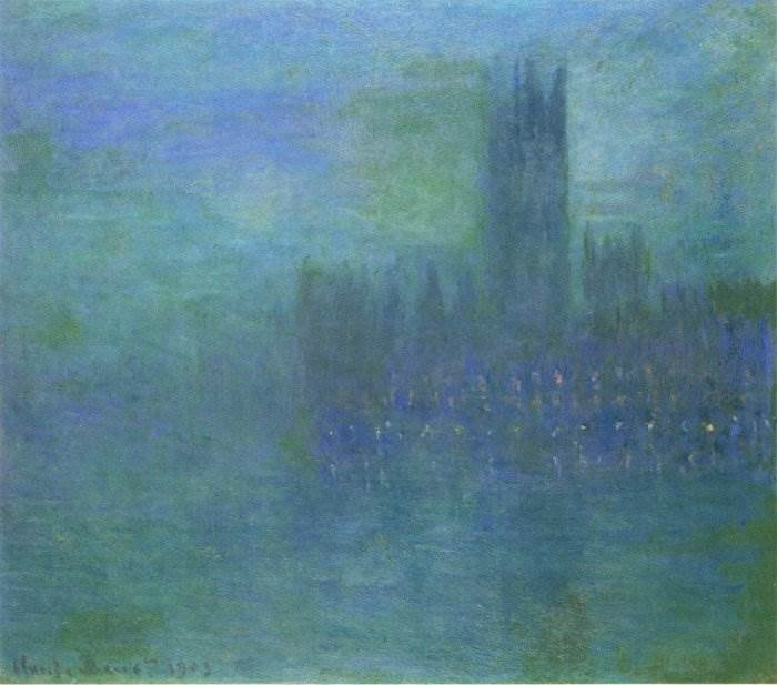 Клод Моне - Вестминстерский дворец, эффект тумана