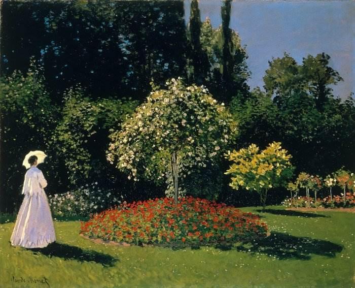 Моне - Дама в саду Сент-Адресс