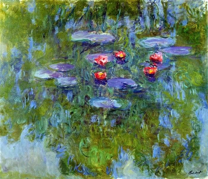 Моне картина Водяные лилии