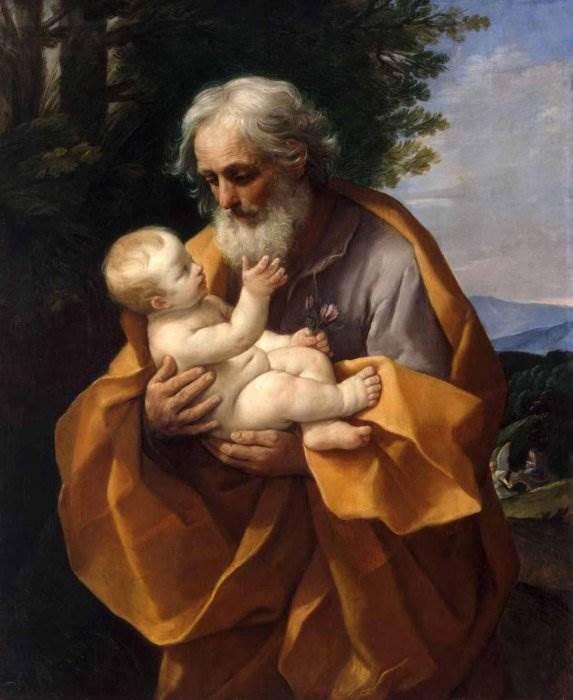 Гвидо Рени - Святой Иосиф с младенцем Иисусом