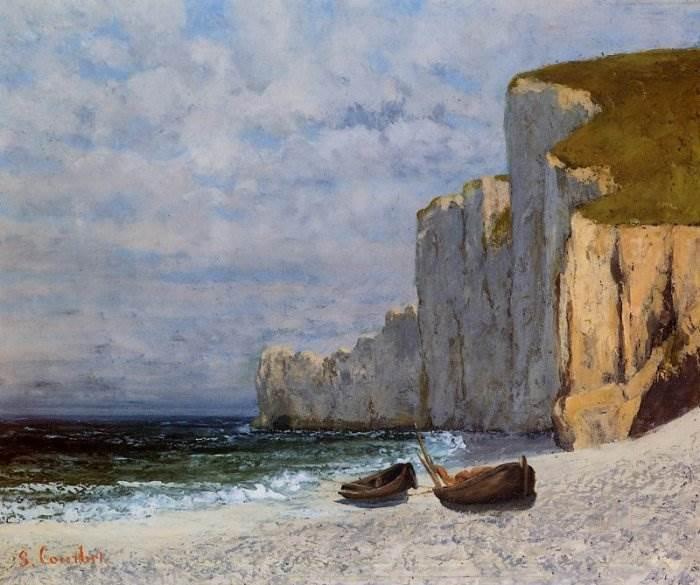 Гюстав Курбе - Залив и отвесные скалы берега