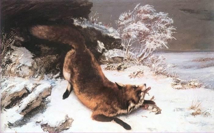 Гюстав Курбе - Лисица на снегу