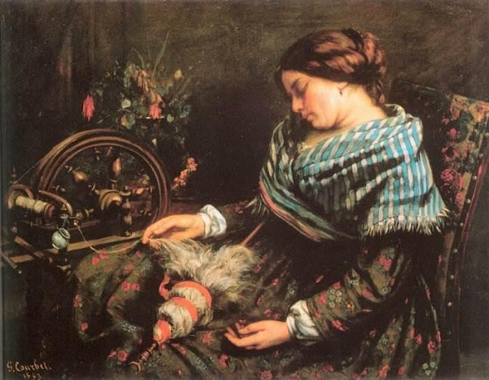 Гюстав Курбе - Спящая прядильщица