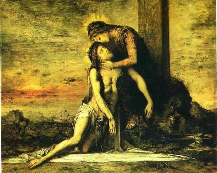 Гюстав Моро - Оплакивание Христа