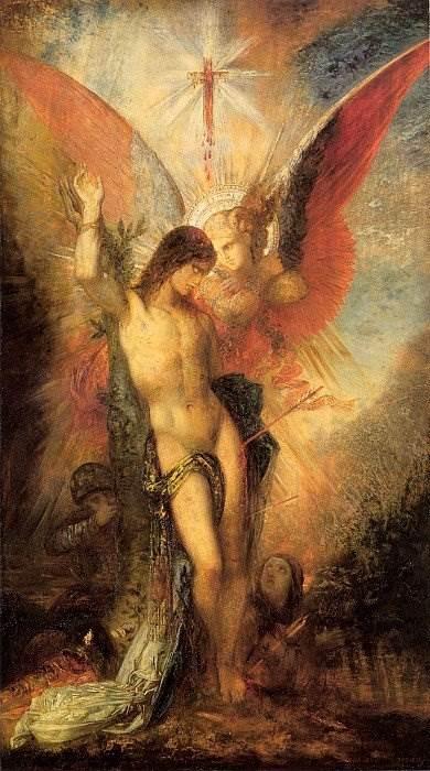 Гюстав Моро - Святой Себастьян и ангел