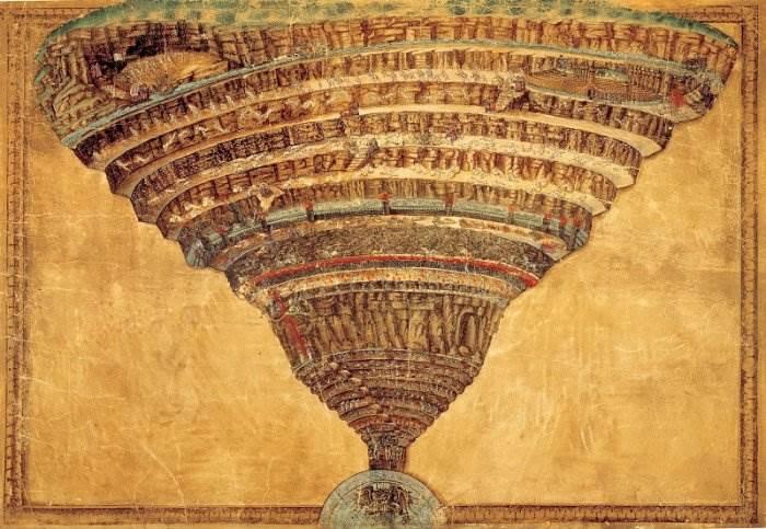 Боттичелли - Карта ада