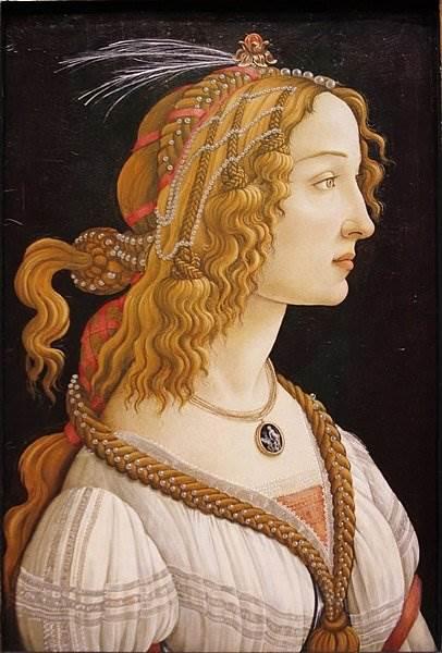 Боттичелли - Портрет молодой женщины