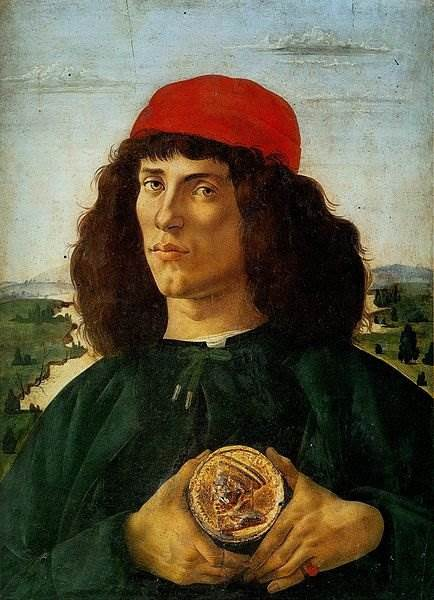 Боттичелли - Портрет неизвестного с медалью