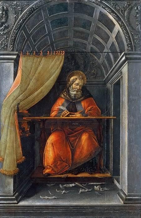 Боттичелли - Святой Августин в келье
