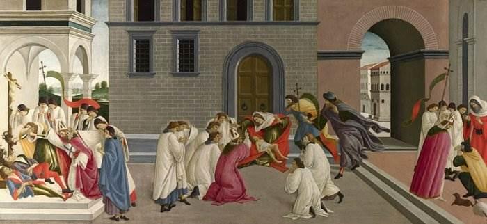 Боттичелли - Три чуда святого Зиновия