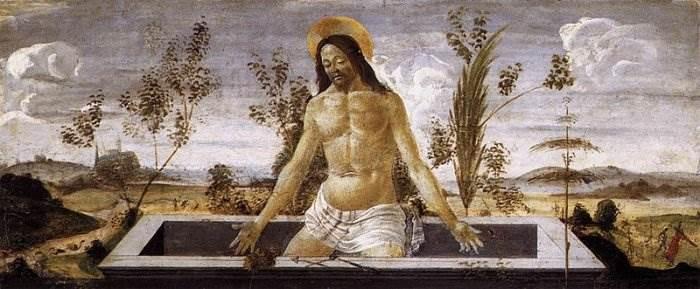Боттичелли - Христос во гробе