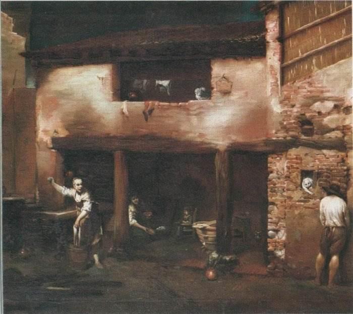 Джузеппе Мария Креспи - Дворовая сцена