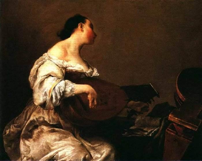 Женщина играющая на лютне
