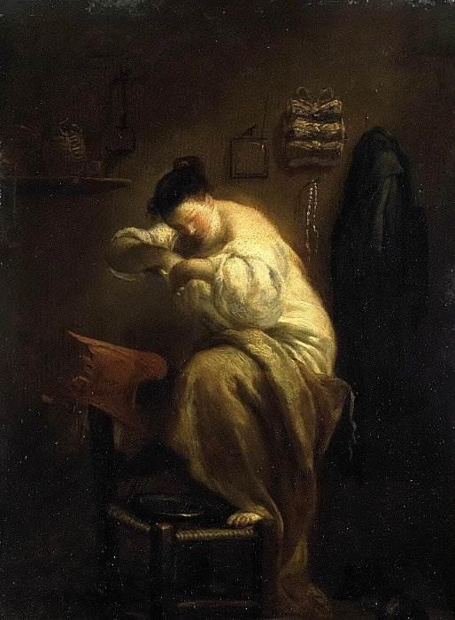 Женщина, ищущая блох