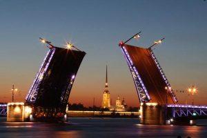 Санкт-Петербург разведённые мосты