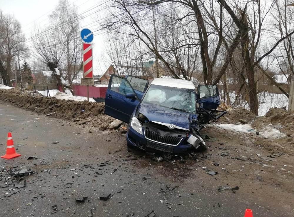 ДТП на Московском шоссе в Твери 10.02.2019