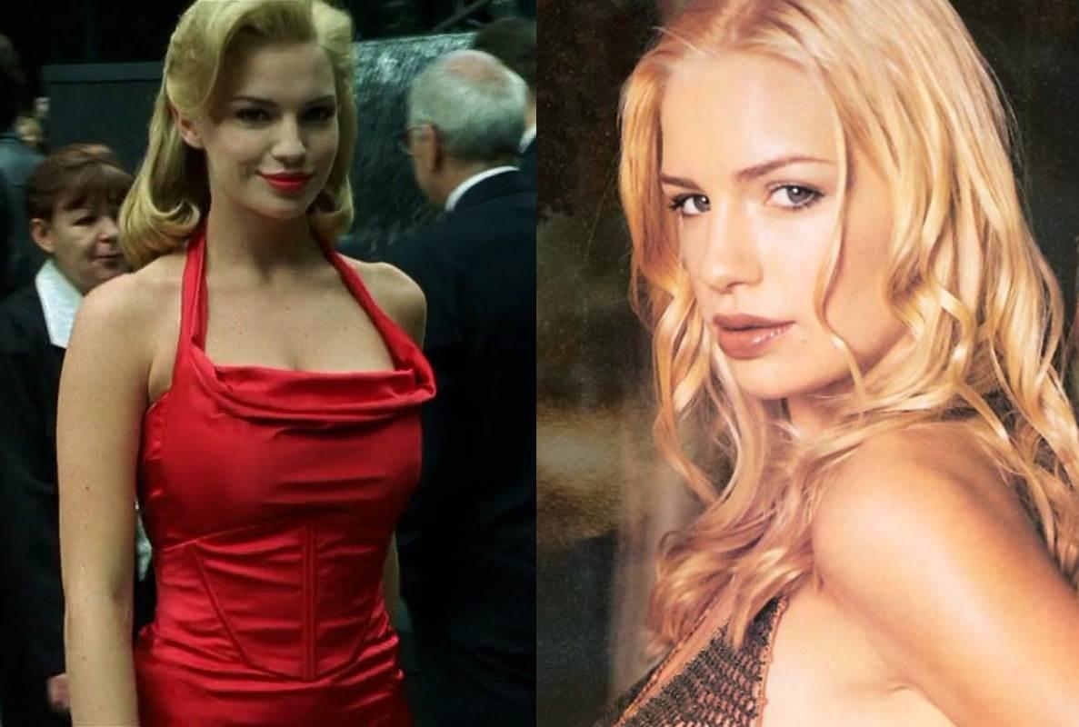 Актриса Фиона Джонсон, которая сыграла блондинку в красном в «Матрице» фото