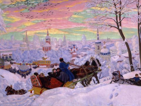Масленица картина Кустодиева