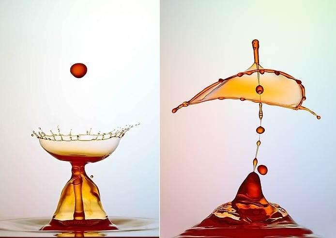 Капли воды макрофотография