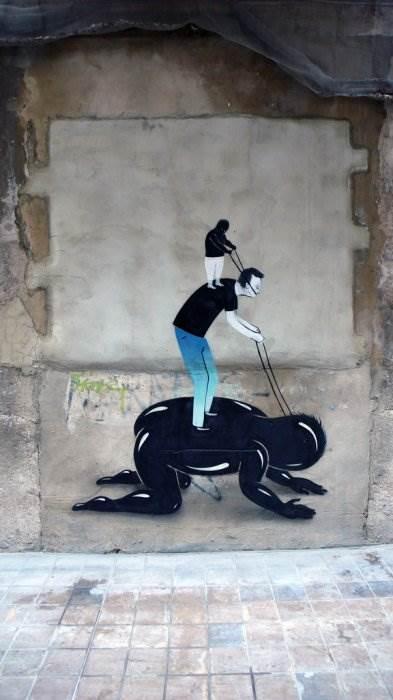 Уличный граффити-художник