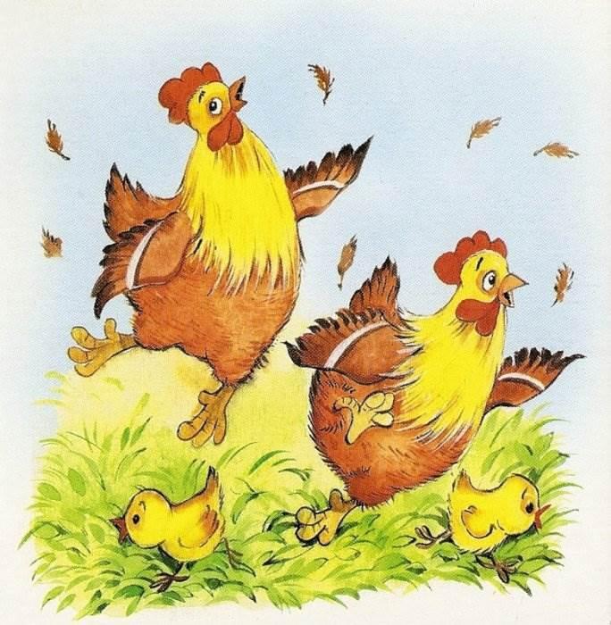 Картинка с курицей для детей, открытки