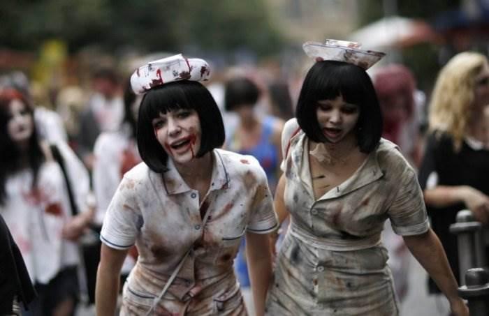 Зомби-парад в городе Франкфурт