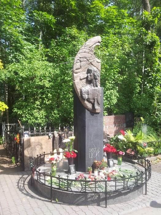 Где похоронен Цой (Богословское кладбище в СПб)