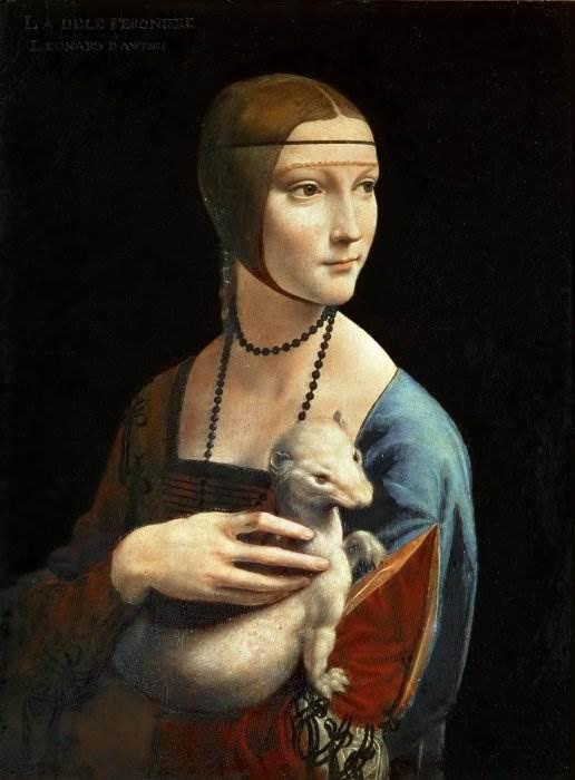 Картина Дама с горностаем да Винчи