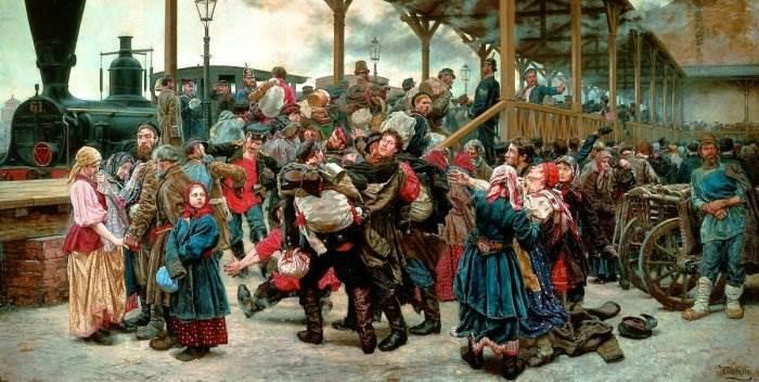 Константин Аполлонович Савицкий картина На войну