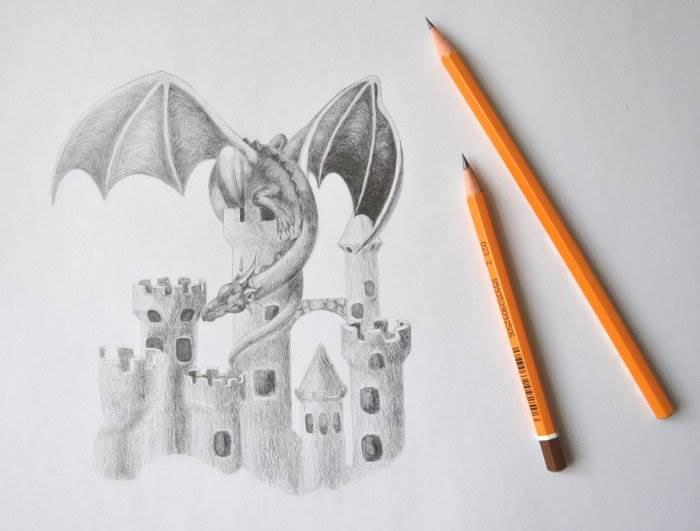рисовать дракона