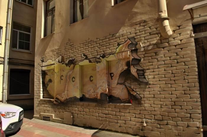 Петербург интересные граффити