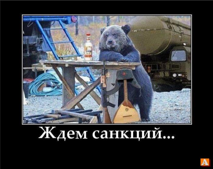 Демотиватор медведь с балалайкой