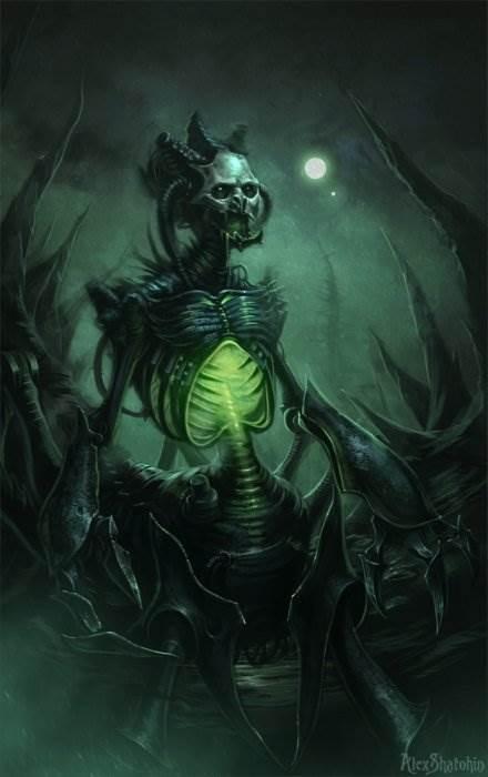Alex Shatohin мрачные иллюстрации
