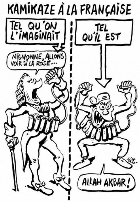 Карикатура на теракт в Париже