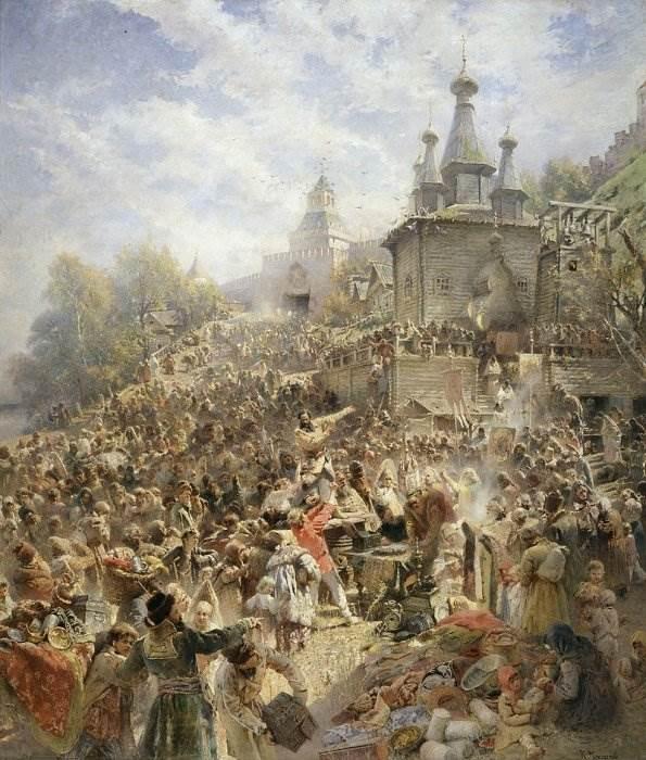 Картина Воззвание Минина к нижегородцам