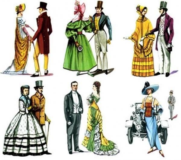 История развития одежды в картинках