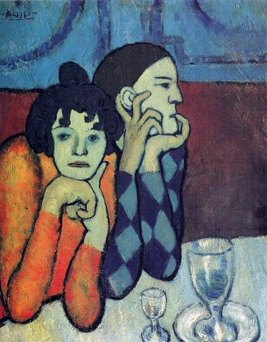 Арлекин и его подружка картина