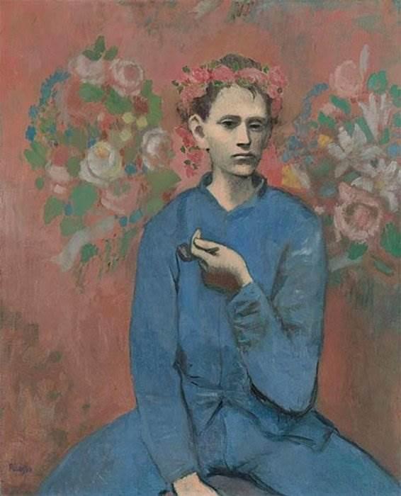 Мальчик с трубкой картина Пабло Пикассо