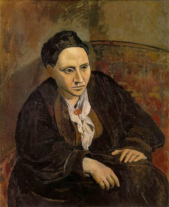 Портрет Гертруды Стайн картина Пабло Пикассо