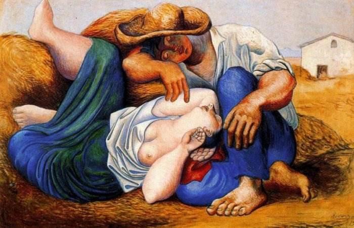 Спящие крестьяне картина Пабло Пикассо