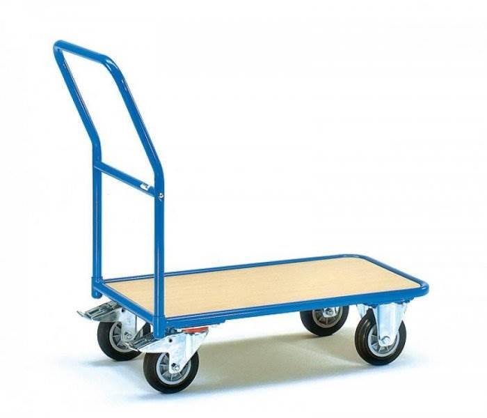 Платформенная тележка – популярное приспособление для перемещения грузов