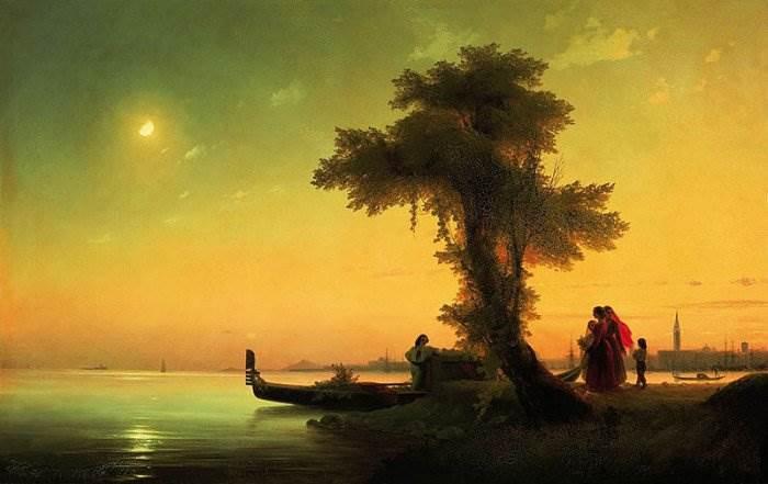 Айвазовский - Вид на венецианскую лагуну