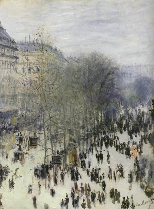 Бульвар Капуцинок картина Моне