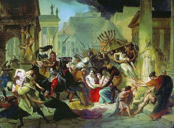 Брюллов - Нашествие Гензериха на Рим