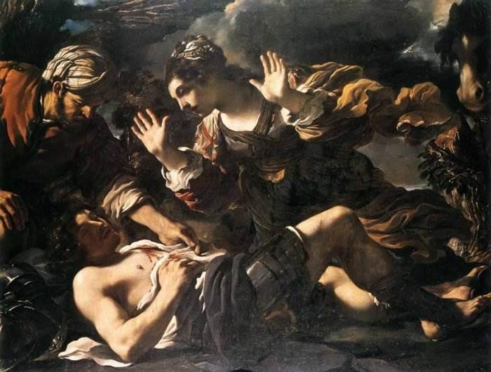 Гверчино - Эрминия находит раненого Тэнкреда