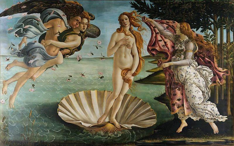 Рождение Венеры картина Боттичелли