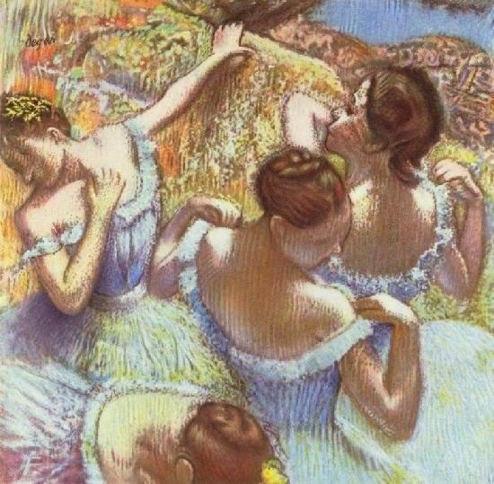Эдгар Дега картина Голубые танцовщицы