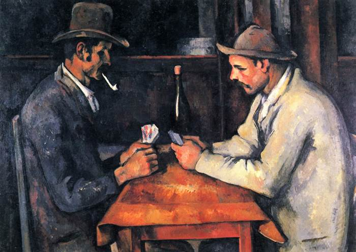 Сезанн картина Картёжники