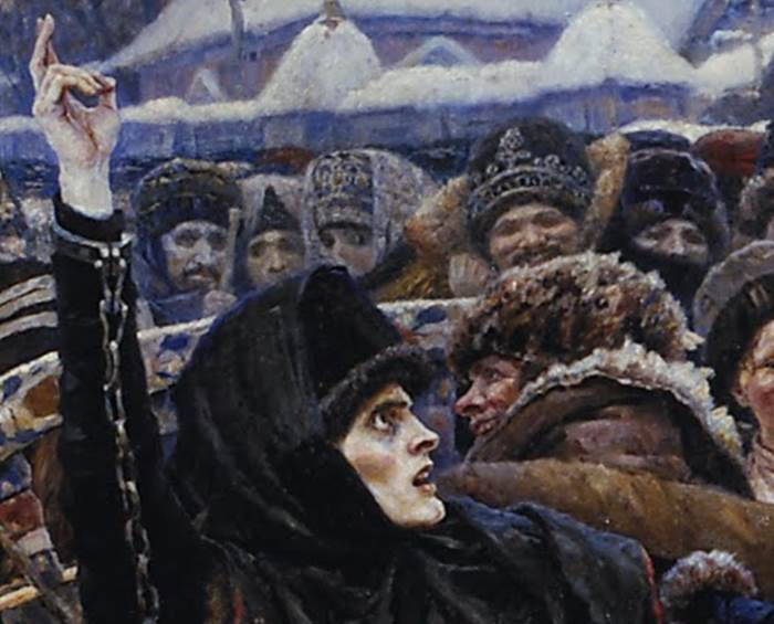 Боярыня Морозова Суриков фрагмент